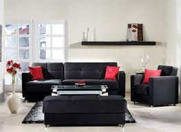 Red White And Black Living Room Impressive Rattan Framed Sofa White Pattern Cushion Square Rattan