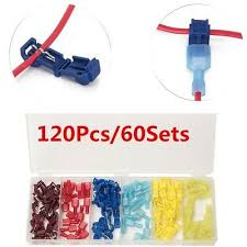 <b>120PCS</b> T-Tap Wire Terminals Lock Splice Wire Connectors 22-18 ...