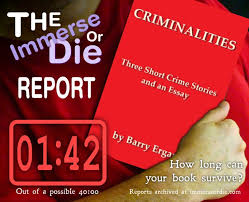 criminalities three short crime stories and an essay by barry iod score card
