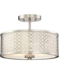 filament design lighting. filament design belva 2-light semi-flush mount ceiling fixture in brushed nickel 2 lighting