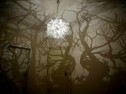 tree branch shadow chandelier home design ideas