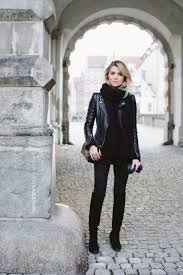 leather jackets will always make the perfect addition to an all black outfit paired with