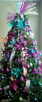 35 Breathtaking Purple Christmas Decorations Ideas U2013 All About Purple Christmas Tree Bows