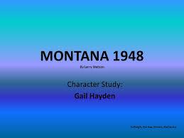 montana by larry watson ppt video online montana 1948 by larry watson
