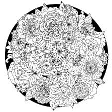 Flower Mandala Coloring Pages Printable At Getdrawingscom Free