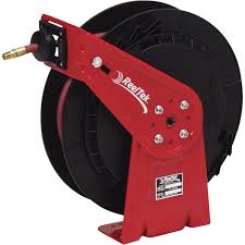 reeltek auto rewind air water hose reel with 3 8in x 50ft pvc hose max 300 psi model rt650 olp northern tool equipment