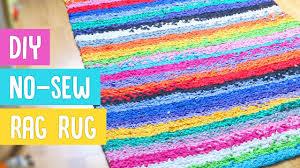 Fabric Rug Diy Diy No Sew Rag Rug Youtube