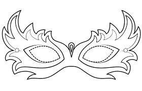 They feature masks, beads, the famous king cake, and characters from some of the parade floats! Masquerade Mask Mardi Gras Coloring Page Free Printable Coloring Pages For Kids