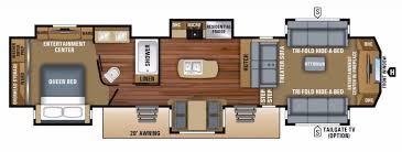 front living floor plan fifth wheel rv