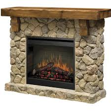 stunning electric fireplace stone