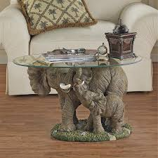 Design Toscano Wholesale Uk Details About Design Toscano Elephants Majesty Glass Topped Cocktail Table