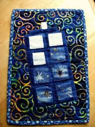 Best 25+ Doctor who quilt ideas on Pinterest | Doctor who, Doctor ... & Doctor Who TARDIS mug rug - QUILTING - I made this for a friend of mine for  her birthday! The pattern is something I made up, just little appliqued  scraps, ... Adamdwight.com