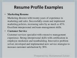 what to write in your profile on a resume accounting resume profile  statement great sample resumes