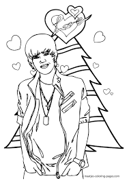 Small Picture Justin Bieber Christmas coloring page