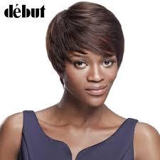 <b>Debut</b> Brazilian <b>Human Hair</b> Short <b>Human Hair Wigs</b> Curly F1b/99j ...
