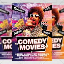 Flyer Poster Templates Comedy Movies Community A5 Flyer Poster Template