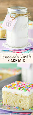 homemade vanilla cake mix such a moist and easy cake to put together with