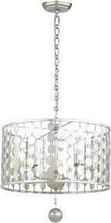 drum pendant lighting contemporary antique silver fixture loading zoom