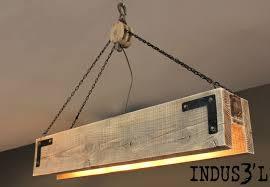3 simple industrial wooden chandelier