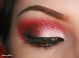 red and gold eye makeup