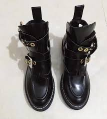 2016 winter fall ranger boots women cut out biker boots buckle black leather las real leather