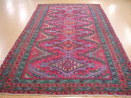 7x12 rug tribal flat weave hand knotted wool red blue oriental rug tribalgeometricflatweave