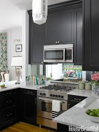 Small Space Kitchen Design Black And White Modern Small Space Kitchen Design With