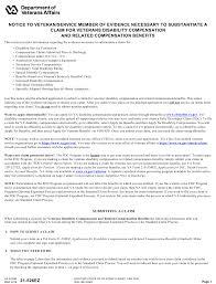 Va Form 21 526ez Download Fillable Pdf Application For