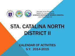 Ppt Calendar 2015 Ppt Sta Catalina North District Ii Calendar Of Activities