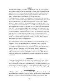 treatments for schizophrenia essay dissertation college paper  schizophrenia essay 1184 words cram