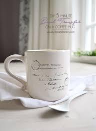 Diy Glass Cup Designs Diy 5 Minute Decal Transfer On A Coffee Mug