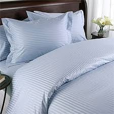 lt blue damask stripe down alternative 4 pc comforter set 100 egyptian cotton 600 thread count