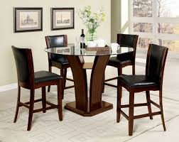 furniture of america cm3710pt 5pc 5 pc manhattan iii brown cherry finish wood 48
