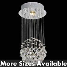 lighting dazzling sphere chandelier with crystals 15 0001059 modern crystal small mirror stainless steel base 1