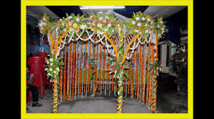 Flower Decoration Design Puja Flower Decoration 100100 KorbaCG Mandap 22