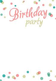004 Free Birthday Invitation Card Template Word Ideas