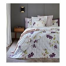 yves delorme clematis double bed duvet cover 180x210 white thumbnail 0