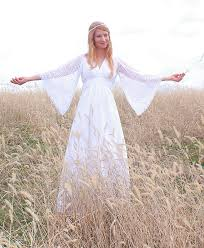 hippie wedding dress with lace sleeves styles of wedding dresses