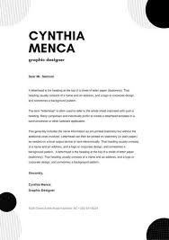 Black And White Circles Personal Letterhead Templates By Canva