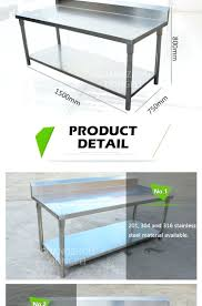 Craftsman Stainless Steel Workbench Top Custom Stainless Steel Workbench Top  430 Stainless Steel Work Bench Table