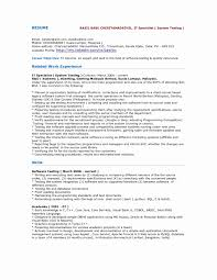 Sample Resume For Experienced Software Tester Sample Resume Software Test Engineer Experience Valid Sample Qa 14