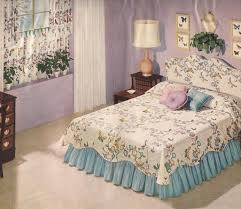 bedroom vintage ideas diy kitchen: floral bed frame applied on the cream floor it also has cream cabinet it also has ideas