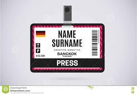 Badge Press Of Id Card Check Illustration 79722705 Plastic Vector Background Design Stock -