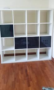 kallax shelf unit with 4 doors and casters ikea ideas shelving furniture shelves drawers on enchanting