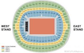Wembley Stadium Nfl Seating Chart Nice Amazing And Interesting Olympic Stadium Seating Plan