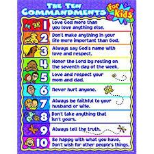 10 Commandments Chart Carson Dellosa Christian The Ten Commandments For Kids Chart 6359