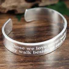 engraved memorial bracelet signature jewelry memorial jewelry personalized engraved gift loss of loved one bereavement gifts