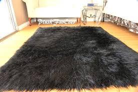 brown fur rug plush fur rug handmade premium quality black white brown gy sheepskin faux fur brown fur rug