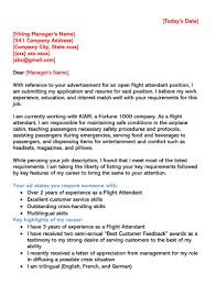 Cabin Crew Cover Letter Flight Attendant Cover Letter Sample Letters Email Examples