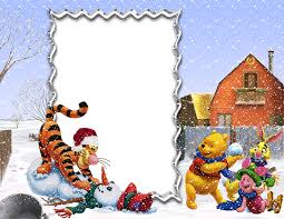 Christmas Photo Frames For Kids Winnie The Pooh And Friends Winter Holiday Png Kids Frame